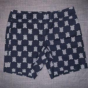 Ann Taylor Loft Turtle Print Bermuda Shorts